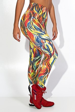 Legging Estampada Abstrato Fluor 3 | Ref: F27-003