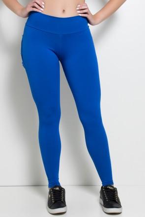 Calça com Babado (Azul Royal) | Ref: F313-003