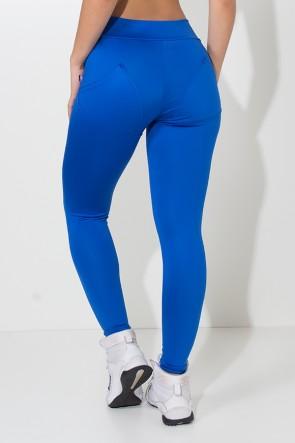 Calça Levanta Bumbum com Bolso (Azul Royal) | Ref: F488-002