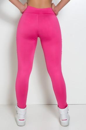 Calça Alana Rasgada (Rosa Pink) | Ref: F566-002