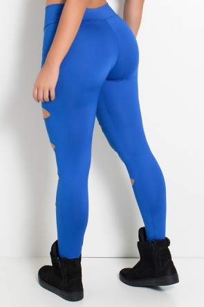 Calça Alana Rasgada (Azul Royal) | Ref: F566-005