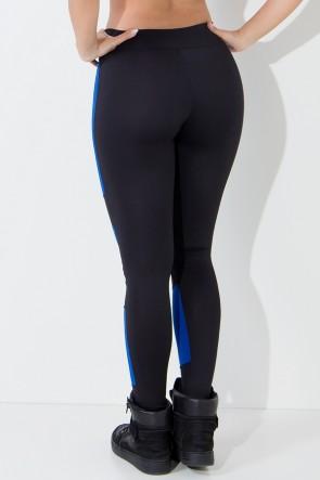 Calça Rubi Duas Cores (Preto / Azul Royal) | Ref:F691-001