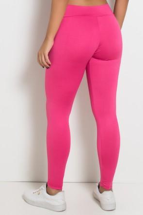 Calça Amanda com Cós em V (Rosa Pink)   Ref:F712-001