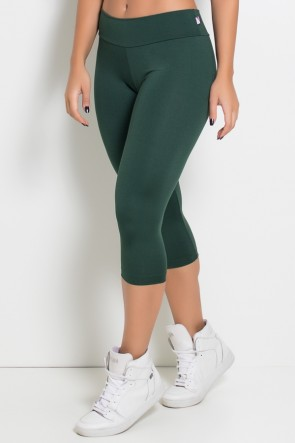 Calça Corsário  (Verde Escuro) |F73-003