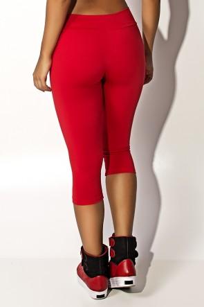 Calça Corsário  (Vermelho) | Ref:F73-007