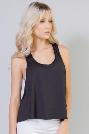 Camiseta de Microlight Lisa (Preto) | Ref: F764-003