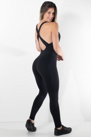 Macacão Fitness Bela Cores Lisas | Ref: F87-001