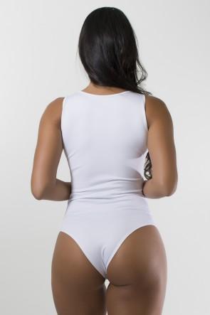 Body Liso com Detalhe Trançado (Branco) | Ref: F879-001