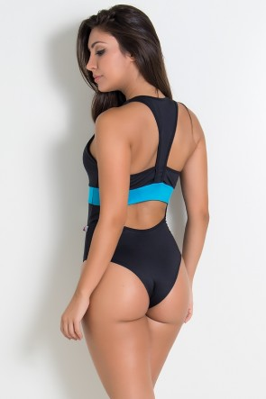 Body Nadador com Faixa Colorida | Ref: F925-001