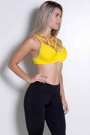 Top com Tiras Cruzadas (Amarelo) | Ref: F994-007
