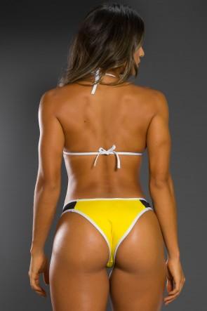 Biquini 3D com Bojo (Preto / Amarelo) | Ref: KS-BQ65-006