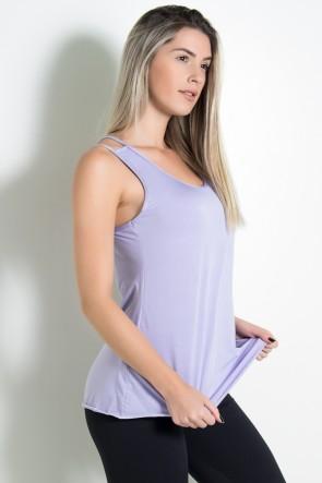 Camiseta de Microlight Nadador com Alça Dupla (Lilás Claro) | Ref: KS-F1022-006