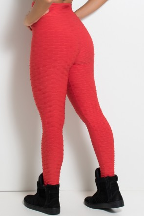 Calça Legging Tecido Bolha (Vermelho) | Ref: KS-F103-001