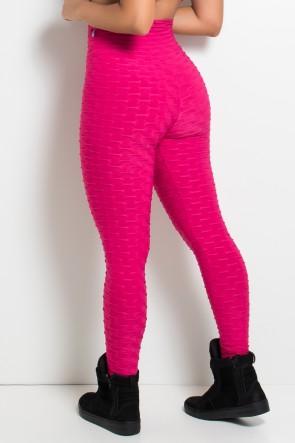 Calça Legging Tecido Bolha (Rosa Pink) | Ref: KS-F103-002