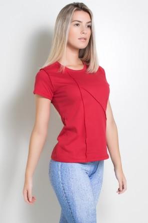 Camiseta de Malha com Ponto de Cobertura (Vermelho) | Ref: KS-F1034-007