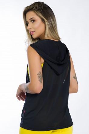 Camiseta Dry Fit com Capuz (Preto) | Ref: KS-F1431-001