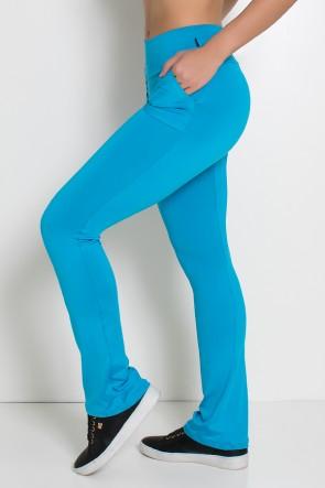 Calça Legging Bailarina  Cores Lisas (Azul Celeste) | Ref: KS-F145-003