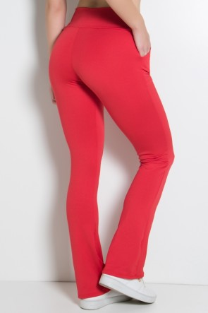 Calça Legging Bailarina Cores Lisas (Vermelho) | Ref: KS-F145-006
