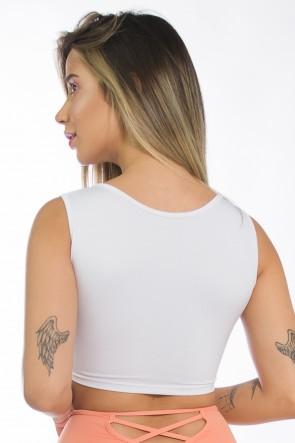 Top Liso Cruzado (Branco) | Ref: KS-F1489-002