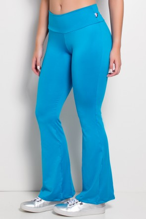 Calça Feminina Flare Boca de Sino (Azul Celeste) | Ref: KS-F150-004