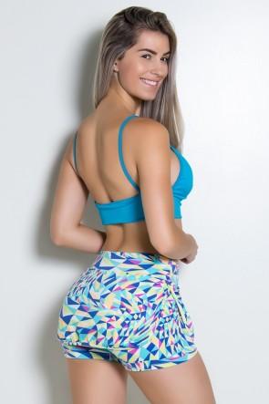 Top Liso de Alcinha com Recorte (Azul Celeste) | Ref: KS-F1682-002