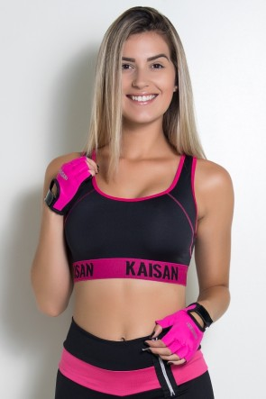 KS-F1824-003_Luva_Color_Kaisan_Rosa_Pink__Preto__Ref:_KS-F1824-003
