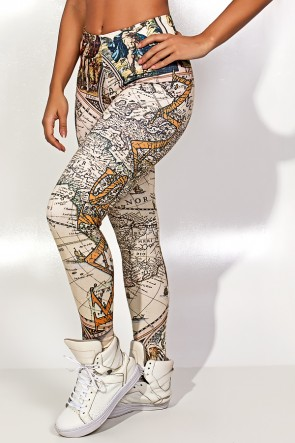 Legging Geography Estampa Digital | Ref: KS-F1827-001