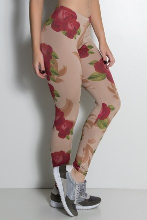 Legging Rosas Vermelhas Estampa Digital | Ref: KS-F1899-001
