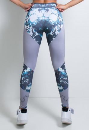 Legging Cinza com Manchas Coloridas Sublimada | Ref: KS-F1982-001