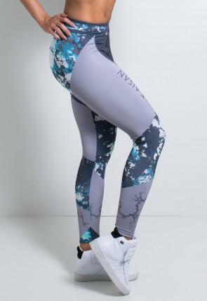 Legging Cinza com Manchas Coloridas Estampa Digital | Ref: KS-F1982-001