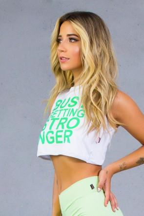 Camiseta Microlight Cruzada nas Costas com Silk (Branco) | Ref: KS-F2097-001