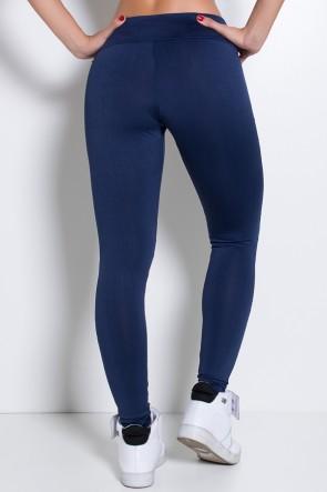 Calça Duas Cores com Detalhe em Tela (Azul Marinho / Preto) | Ref: KS-F2218-001