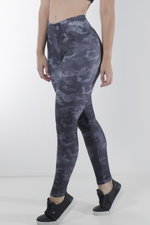 Legging Jeans Camuflado Estampa Digital | Ref: KS-F2252-001