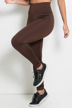 Legging Cós Alto Marrom   Ref: KS-F23-019