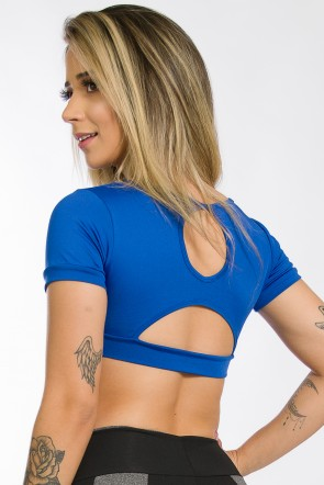 Cropped Bia Liso (Azul Royal) | Ref: KS-F258-003