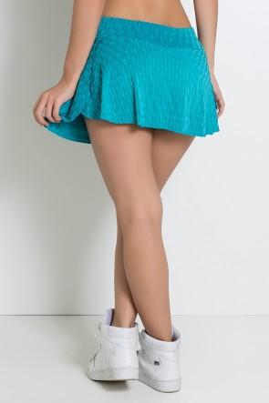 Short Saia Isabelle Tecido Bolha (Verde Esmeralda)   Ref: KS-F265-007