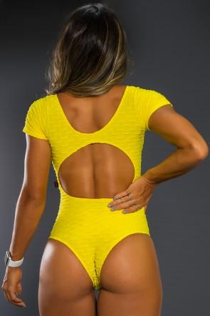 Body Costas Aberta Tecido Bolha (Amarelo)   Ref: KS-F268-005