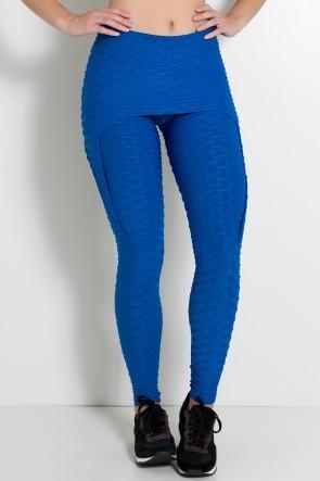 Calça Aranha Tecido Bolha (Azul Royal) | Ref: KS-F309-005