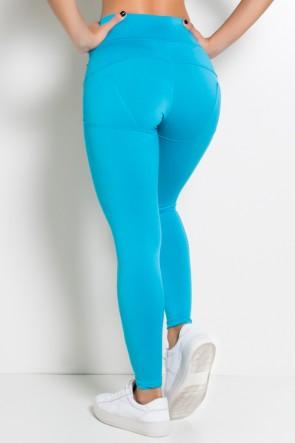 Calça Legging Levanta Bumbum (Azul Celeste)   Ref: KS-F432-005