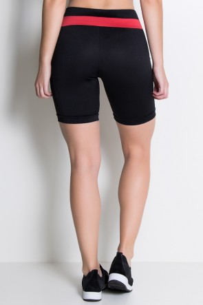 Bermuda Dani (Be Fit With Us) / (Preto / Vermelho) | Ref: KS-F441-004