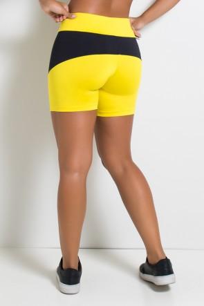 Bermuda 2 Cores Bruna (Amarelo com Preto) | Ref: KS-F471-002
