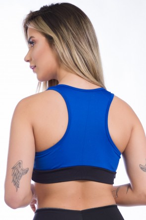 Top 2 Cores (Azul Royal / Preto) | Ref: KS-F490-003