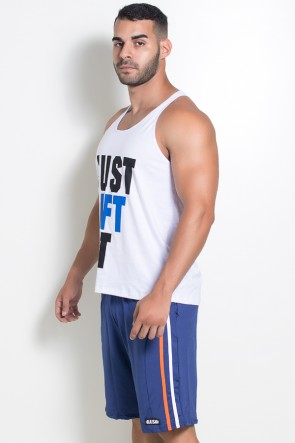 Camiseta Regata (Just Lift It) (Branco) | Ref: KS-F522-001