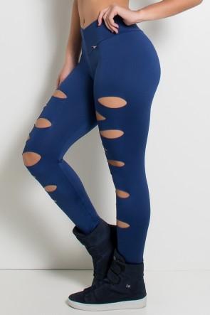 Calça Alana Rasgada (Azul Marinho) | Ref: KS-F566-004