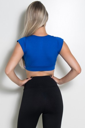 Top Duda Liso (Azul Royal) | Ref: KS-F656-003