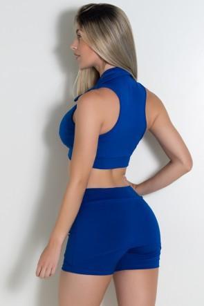 Top Liso com Fecho (Azul Royal) | Ref: KS-F81-003
