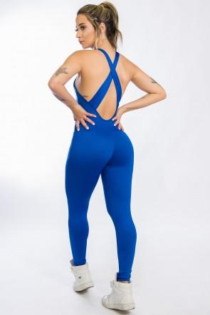 Macacão Fitness Bela Azul Royal   Ref: KS-F87-002