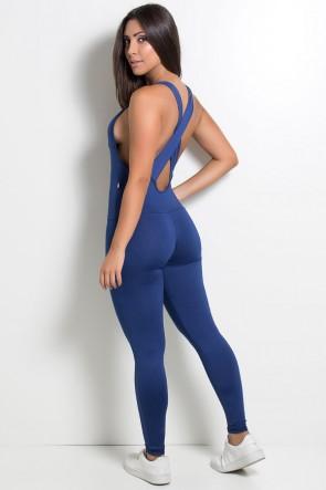 Macacão Fitness Bela Cores Lisas (Azul Marinho)   Ref.: KS-F87-003