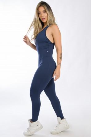 Macacão Fitness Bela Cores Lisas (Azul Marinho) | Ref.: KS-F87-003