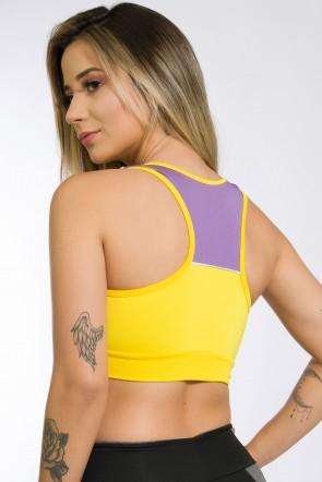 Top Nadador com Vivo (Amarelo + Branco + Lilás) | Ref: KS-F980-004